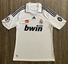 Adidas 2008/09 Real Madrid Sergio Ramos UCL Home Jersey M shirt spain patch BOH9