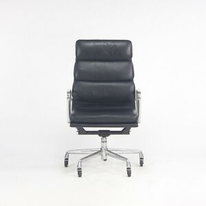 2002 Herman Miller Eames Aluminum Group Executive Soft Pad Desk Chair Black 13x