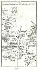 Antique map, Roads from Leighlin Bridge to Shilelah, Kildare to Carlow