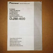 Pioneer DJM-400 DJ MIXER istruzioni operative
