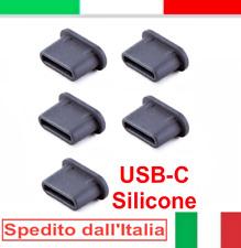 5x tappo USB-C protezione antipolvere silicone nero per OnePlus 9 9 PRO