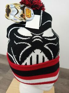 Boy's Black Red Stocking Cap Star Wars Darth Vader Christmas Holiday Beanie Hat