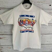 Autographed 1993 USA Gold Gymnastics Shirt sz L Vtg Nadia Comaneci Kim Zmeskal