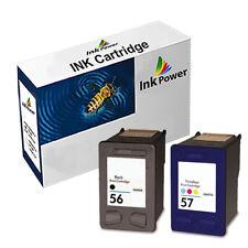 2 Tricolorer Reconditionné Encre Cartouche pour HP 56/57 Deskjet 450cbi 450ci