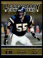 2011 PLAYOFF LEGENDARY CONTENDERS GOLD JUNIOR SEAU 9/100 CHARGERS #24 PARALLEL