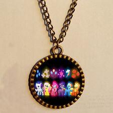 My Little Pony Friendship Is Magic Necklace Glass Pendant Jewelry Rainbow dash