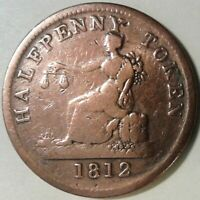1812 LOWER CANADA TIFFIN HALF PENNY TOKEN