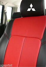 6 x MITSUBISHI auto poggiatesta Decalcomanie Adesivi logo grafica Scelta di Colori # 2