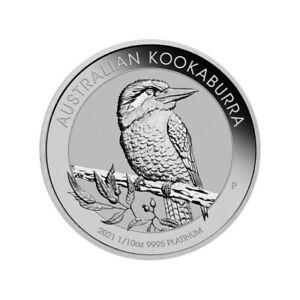 AUSTRALIE 15 Dollars Platine 1/10 Once Kookaburra 2021