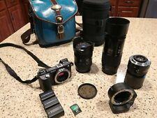 Sony Alpha NEX-6 16.1MP DSLR+Mount Adapter+3 lenses(16-80mm,70-210mmF4,50mmF1.7)