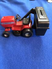 Quality Farm & Fleet Steerable Riding Mower Lawn Tractor Metal Change Bank Red