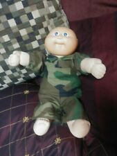Vintage Cabbage Patch Doll Camo Camouflage Outfit Dated 1982 Coleco Rare Soldier