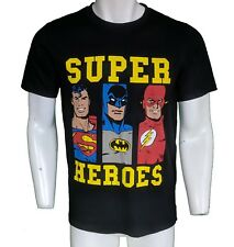DC Comics Original Super Heroes T-shirt Tamaño M Mediano Superman Batman El Flash
