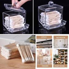 Support acrylique boîte coton ouatés Stick Storage Case + 120Pc coton-tige DQ