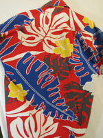 80s Vintage Norfleet Hawaiian Shirt Size L Short Sleeve 100% Cotton Made in USA