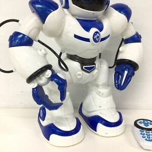 Blue & White Robotic Toy w/ Remote Unbranded #323