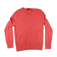 Banana Republic Men Size M Classic V-Neck Pullover Sweater Blood Orange