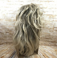 Revlon Ash Blonde Long Wig w Bangs Synthetic 17/22T Adjustable Lace Front