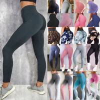 Women Yoga Pants High Waisted Fitness Gym Leggings Sports Activewear Trousers