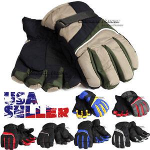 Men Ski Winter Gloves Windproof Waterproof Warm Snowboard Sports Thermal Glove