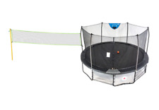 Skywalker 16' Deluxe Round Sports Arena Trampoline with Enclosure - Black