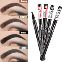 4 Fork Microblading Tattoo Eyebrow Liquid Ink Pen Waterproof Pencil Brow Definer