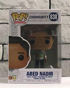 FUNKO POP TELEVISION COMMUNITY ABED NADIR #838 - RARE & HARD TO FIND