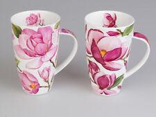 2er Set Dunoon Becher, Tassen Henley Magnolias weiß rosa für 600ml Formano