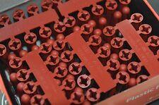 RED 6mm  PLASTIC WALL PLUG RAWL PLUG 2 x 100 packs 200 Total