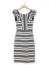 Paul Smith Womens Black Striped Ruffle Trim Dress Size 38 (UK Size 10)