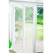 Country Club Magnetic Insect Fly Bug Pest Door Screen Curtain 90x210cm White
