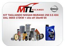 KIT TAGLIANDO NISSAN MURANO Z50 3.5 4X4 DAL 08/03 172KW + olio elf 10w40 5lt