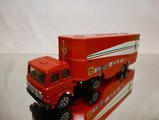 POLISTIL ART RJ101 FIAT 170 F1 CAR TRANSPORTER - FERRARI - RED 1:60? - GOOD