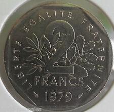 2 francs semeuse 1979 : FDC : pièce de monnaie française