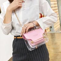 Women PVC Transparent Clear Shoulder Bag Tote Jelly Candy Summer Beach Handbag