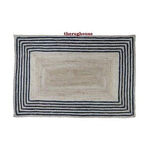Rug 100% Natural Jute Braided style Carpet Rustic Look Handmade Home Decor Rugs