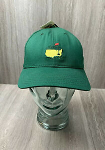 New Vintage Masters Augusta National Member Hat Green Leather Strap Caddy Caddie