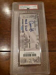 🔥RARE! AARON JUDGE SIGNED MLB DEBUT 1st HR/HIT TICKET STUB PSA JSA COA AUTO🔥