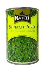 Natco - Purée d'épinard - lot de 2 boîtes de 395 g