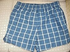 SPEEDO MENS BLUE CHECK SWIM SHORTS IN GOOD CONDITION - SIZE MEDIUM