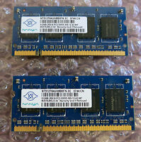 Nanya NT512T64UH8B0FN-3C 1GB (2 x 512MB) PC2-500S DDR2 Laptop RAM Memory Module