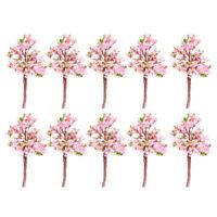 Lot 10pcs Modèles Arbres Avec Fleurs Roses Train Paysage Echelle OO HO