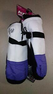 Kombi Storm Cuff Mittens Ski 3M Thinsulate Women's Medium White Purple