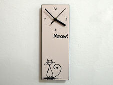 Cute Pussy Cat - Kitten Kitty Kat - Meow Whiskers - Wall Clock