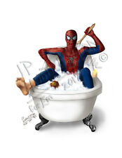 SPIDERMAN Bathroom Bathtub Print Picture Poster Picture DC Marvel Towel Wall Set