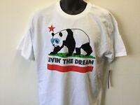 Tony Hawk Living the Dream Panda Bear Sunglasses Skateboarding Men's T Shirt