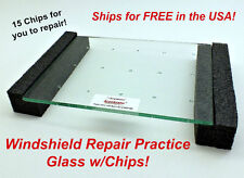 RepairDemo Practice Glass for Auto Glass Windshield Repair Resin Kit w/ Chip s