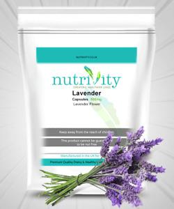Lavender 500 mg Veggie Capsules Herbal Relaxing, Restful Supplement Nutrivity UK