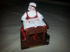 Norman Rockwell Santa Figure Ftd Checking His List Us Mail