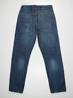 Burton mens Size 30w reg leg 32L high rise reg straight fit blue denim jeans